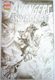 Avengers Invaders #1 Retailer Incentive Sketch Variant 1:50 Alex Ross Marvel comic book